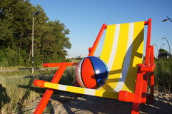 Giant beach chair at Hoek van Holland Stock Images