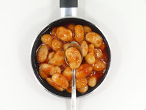 Giant beans in the pan Royalty Free Stock Photos