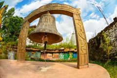 Giant bell at Tashiding monastery in Sikkim, India Royalty Free Stock Image