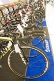 Giant bicycles on display. Royalty Free Stock Photos