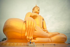 Gold Gaint Buddha Royalty Free Stock Photos