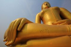 Giant big great Buddha bless stock photos