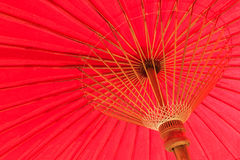 Giant big red umbrella Stock Photos