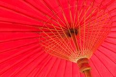 Giant big red umbrella Stock Photos