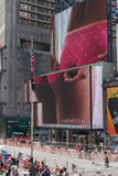 Giant Billboards of Times Square Stock Images