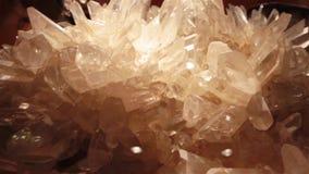Giant block of quartz crystals in a shop in Paris.