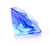 Giant blue diamond isolated Royalty Free Stock Image