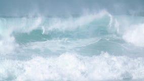 Giant Blue Ocean Wave in in Slow Motion stock footage