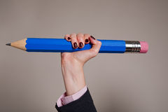 Giant blue pencil Royalty Free Stock Photography