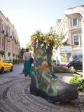 Giant boot stock photo