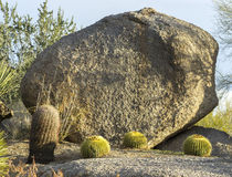 Giant boulder used for signage Royalty Free Stock Photography