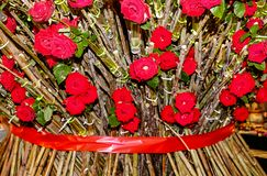 Giant bouquet of red roses. Floral background - Giant bouquet of red roses stock photos