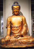 Giant bronze buddha at museum of anthropology Stock Photo