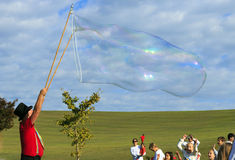 Giant Bubble in the Sky Stock Images