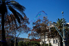 Giant Bubble. Street art giant bubble forming Royalty Free Stock Images