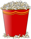 Giant bucket of popcorn Stock Images
