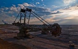 Giant bucket wheel excavator Royalty Free Stock Image