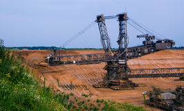 Giant bucket wheel excavator Stock Image