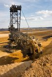 Giant bucket wheel excavator Royalty Free Stock Image