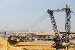 Giant Bucket Wheel Excavator. A giant Bucket Wheel Excavator at work in a lignite pit mine Stock Photo