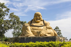 Giant buda, Buddhist Temple, Foz do Iguacu, Brazil. Giant buda and blue sky background, Buddhist Temple, Foz do Iguacu, Brazil Stock Photography