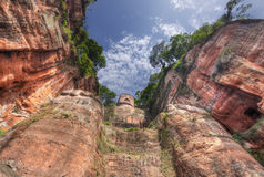 The giant buddah of leshan. Sichuan china stock images