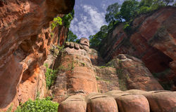 The giant buddah of leshan sichuan stock photography