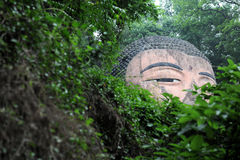 The giant buddah of leshan Royalty Free Stock Images