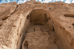 The giant buddha in bamiyan - afghanistan Royalty Free Stock Photo