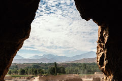 The giant buddha in bamiyan - afghanistan Stock Photo