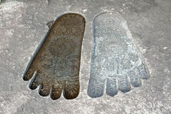 Giant buddha feet Stock Images