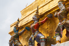 Giant Buddha in Grand Palace. Bangkok, Thailand Stock Images
