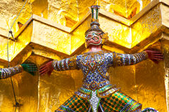 Giant Buddha in Grand Palace. Bangkok, Thailand Royalty Free Stock Photos