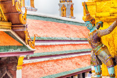 Giant Buddha in Grand Palace. Bangkok, Thailand Royalty Free Stock Photo