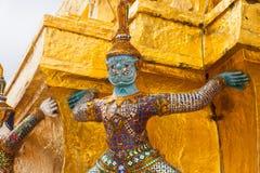 Giant Buddha in Grand Palace. Bangkok, Thailand Royalty Free Stock Photography
