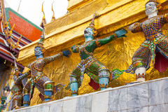 Giant Buddha in Grand Palace. Bangkok, Thailand Royalty Free Stock Image