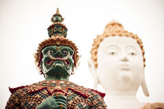 Giant and Buddha Stock Images
