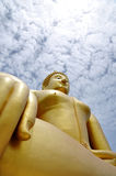 Giant buddha. Head at watmuang Stock Photo