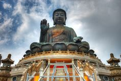 Giant Buddha of Hong Kong royalty free stock images