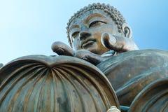 The Giant Buddha in Hong Kong. Beautiful view of the Giant Buddha in Hong Kong Stock Photo