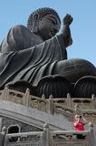 The Giant Buddha in Hong Kong, China Stock Images