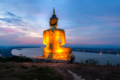 A giant Buddha image statue looking to Mekong river Royalty Free Stock Photo