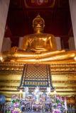 Giant Buddha image at Wat Mongkol Bophit temple Stock Image
