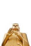 Giant Buddha Isolated on White Stock Photography