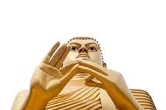 Giant Buddha Isolated on White. Buddha statue in Golden Temple in Dambulla, Sri Lanka Stock Photos