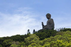 Giant Buddha in Lantau Island Stock Photo