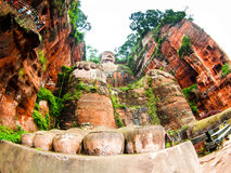 Giant Buddha in Leshan Royalty Free Stock Photo