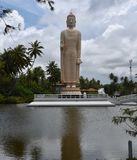 Giant Buddha over water Stock Photos