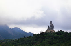 Giant Buddha/Po Lin Monastery in Hong Kong, Lantau Island Royalty Free Stock Photography