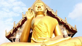 Giant Buddha, is a sacred right to be respected stock video footage